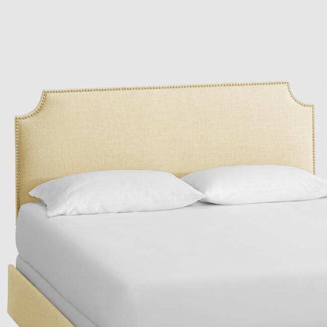Linen Caiden Upholstered Bed