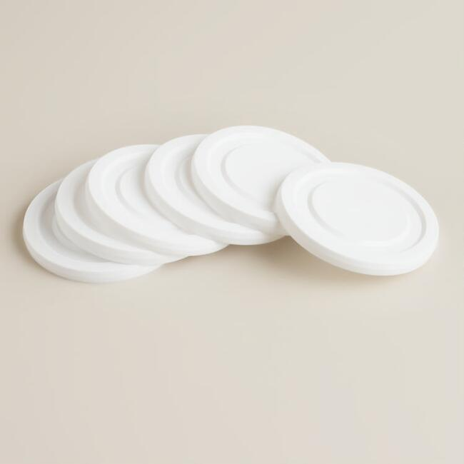 Working Glass Lids, Set of 6