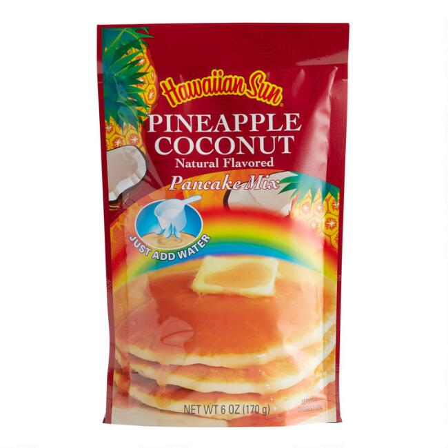 Hawaiian Sun Pineapple Coconut Pancake Mix Set of 6