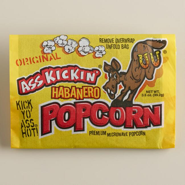Ass Kickin' Habanero Popcorn, Set of 12