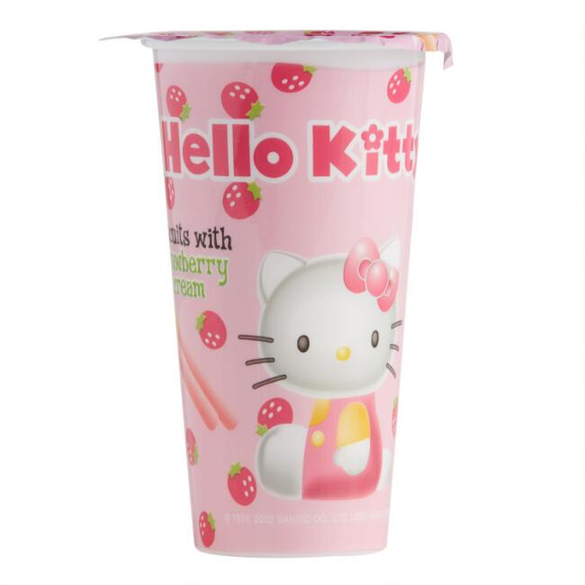 Hello Kitty Strawberry Dip Biscuits Set of 8