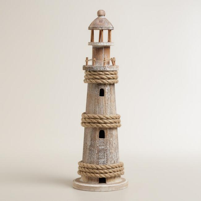 Wood and Jute Lighthouse