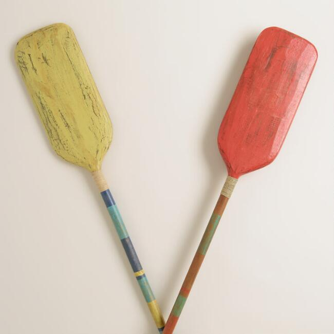 Large Oars Decor, Set of 2