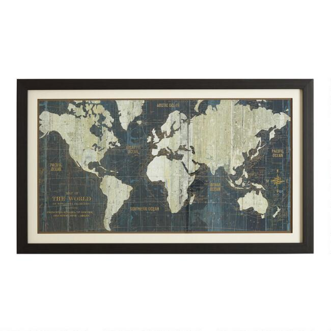 Map wall decor world market blue old world map gumiabroncs Gallery