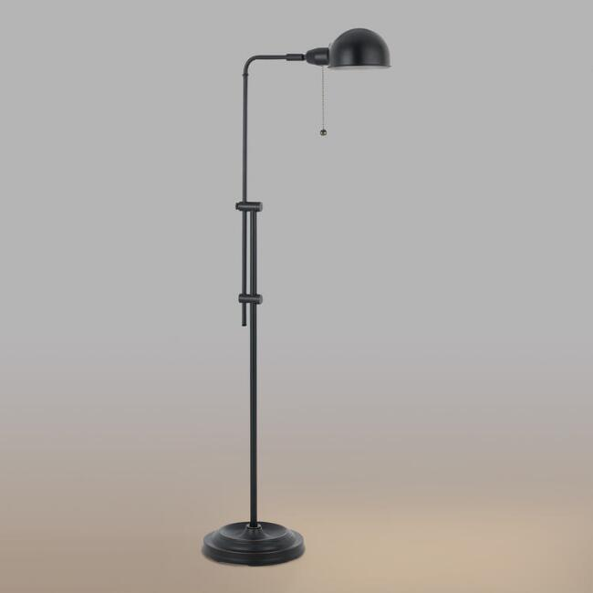 Black Adjustable Crosby Pharmacy Floor Lamp
