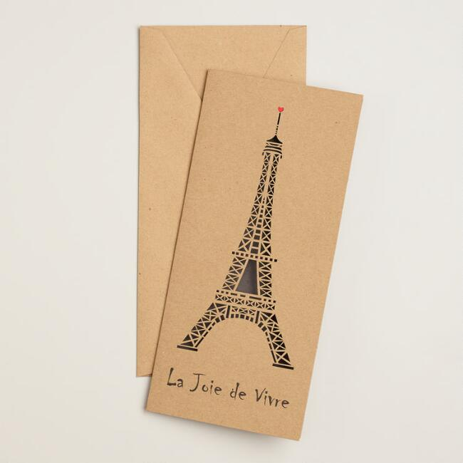Eiffel Tower Laser-Cut Boxed Cards, Set of 8