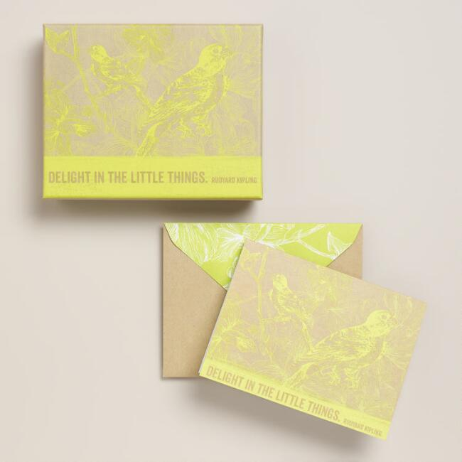Neon Bird Boxed Cards, Set of 10