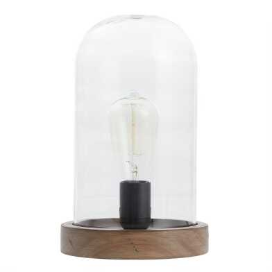 Glass Cloche Edison Bulb Table Lamp