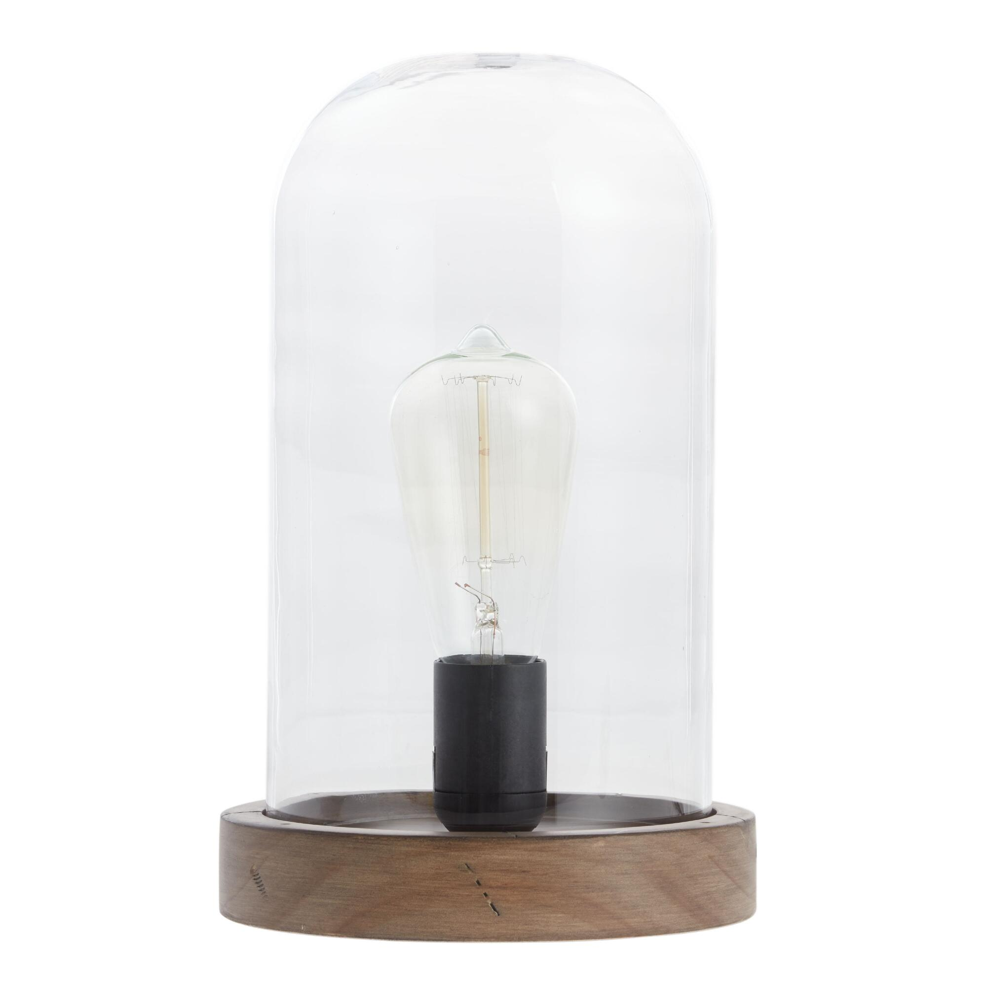Edison glass cloche table lamp world market aloadofball Images