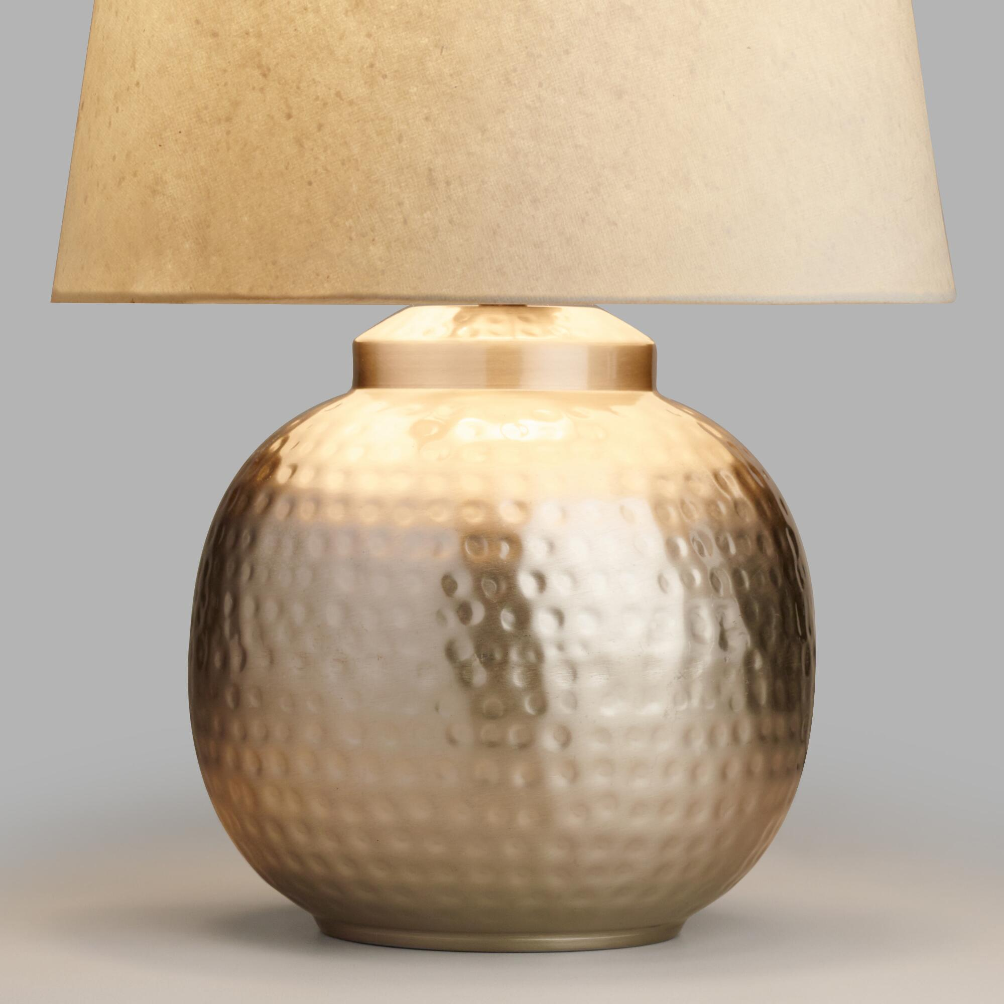 Accent lamps lamp shades base world market hammered pewter accent lamp base geotapseo Image collections