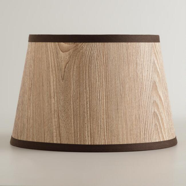Wood Grain Accent Lamp Shade