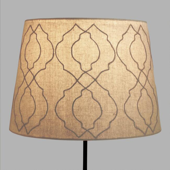 Jute Tile Table Lamp Shade