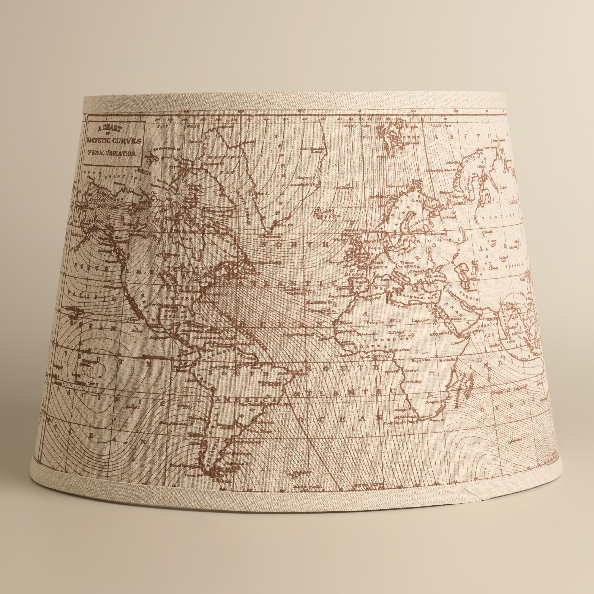 Vintage World Map Table Lamp Shade  World Market