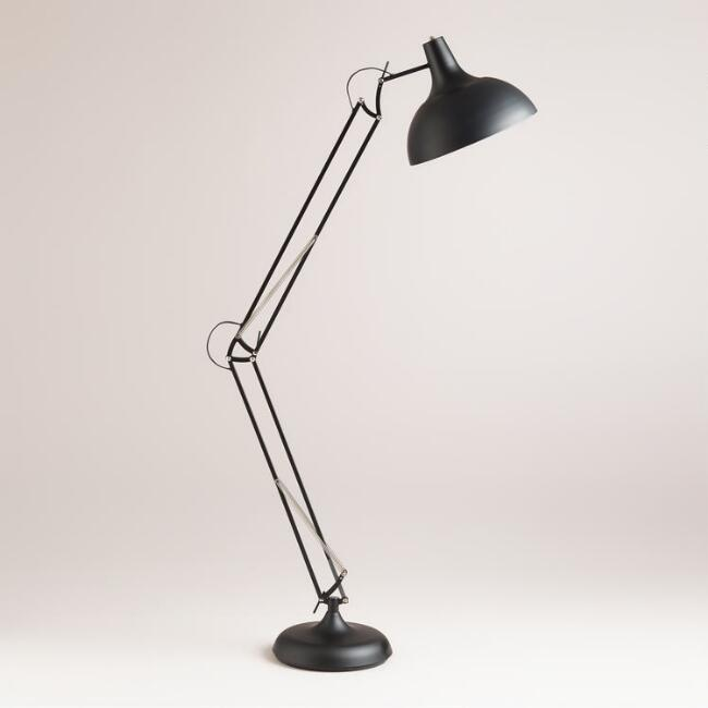 Black Task Floor Lamp