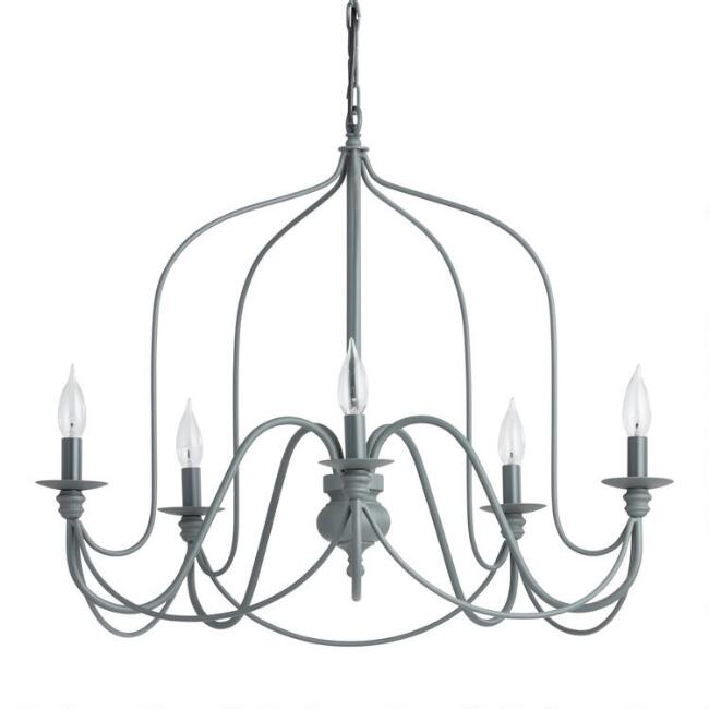 Rustic wire chandelier world market aloadofball Image collections