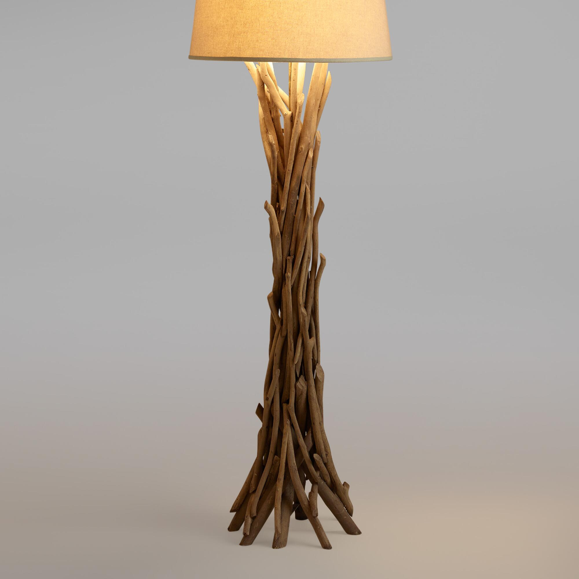 . driftwood floor lamp base  world market