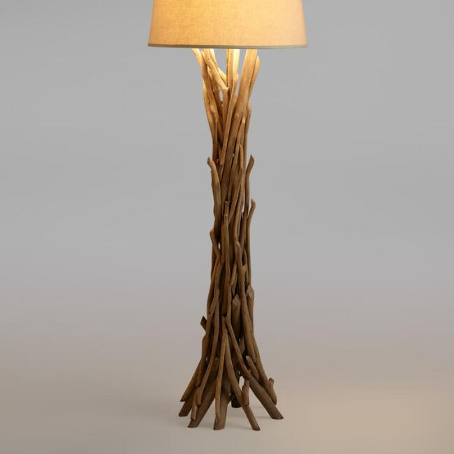 Driftwood floor lamp base world market driftwood floor lamp base aloadofball Images