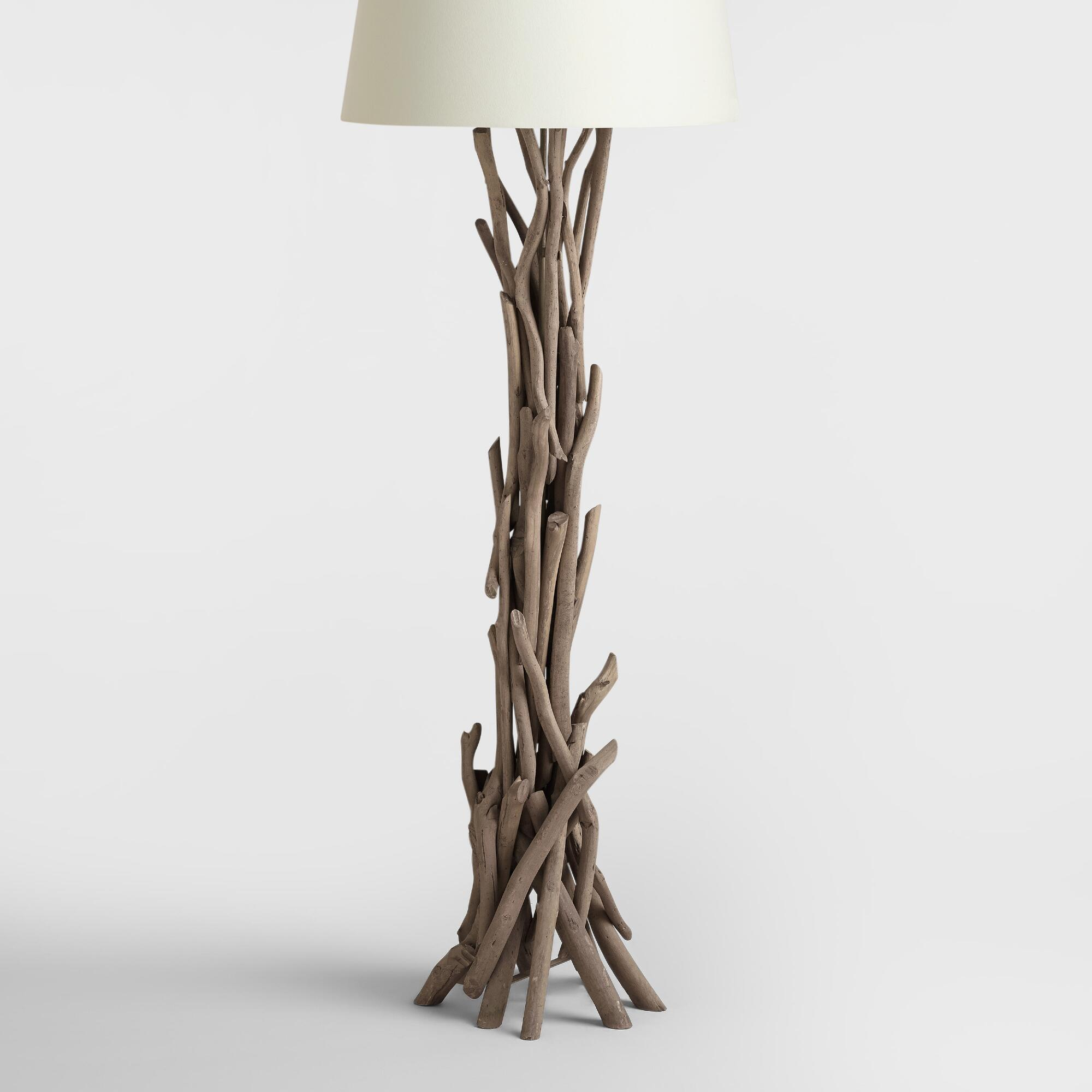 cotton abuja lamp rustic with image shade floor brown driftwood