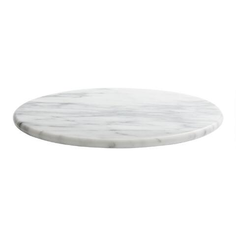 White Marble Lazy Susan World Market