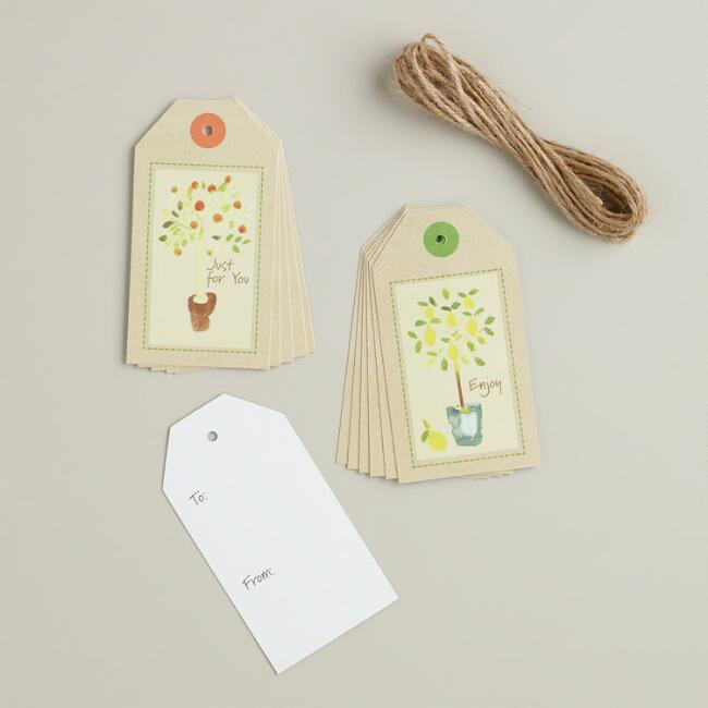 Natural Kitchen Tags with Twine, 12-Count