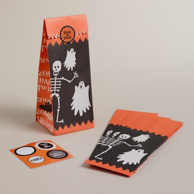 Halloween Treat Bags, 4-Count