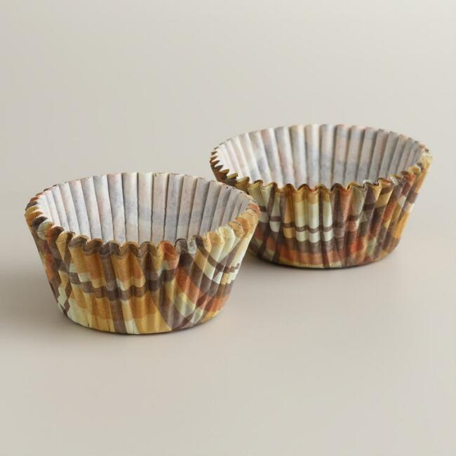 Harvest Plaid Cupcake Liners, 50-Count