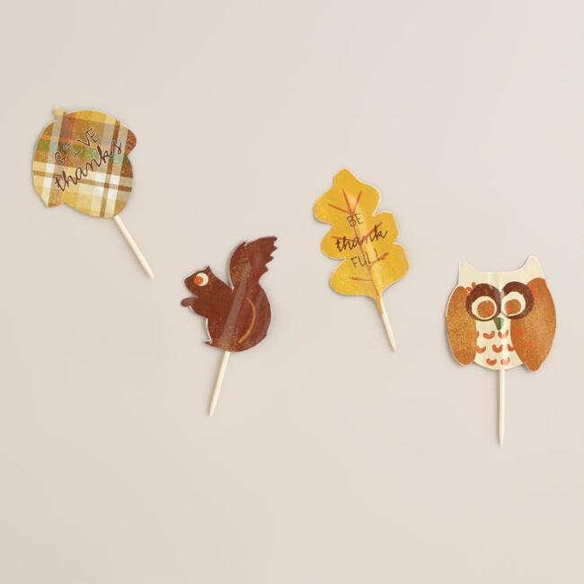 Harvest Cupcake Toppers, 12-Count