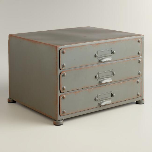 Zinc Austin 3-Drawer File
