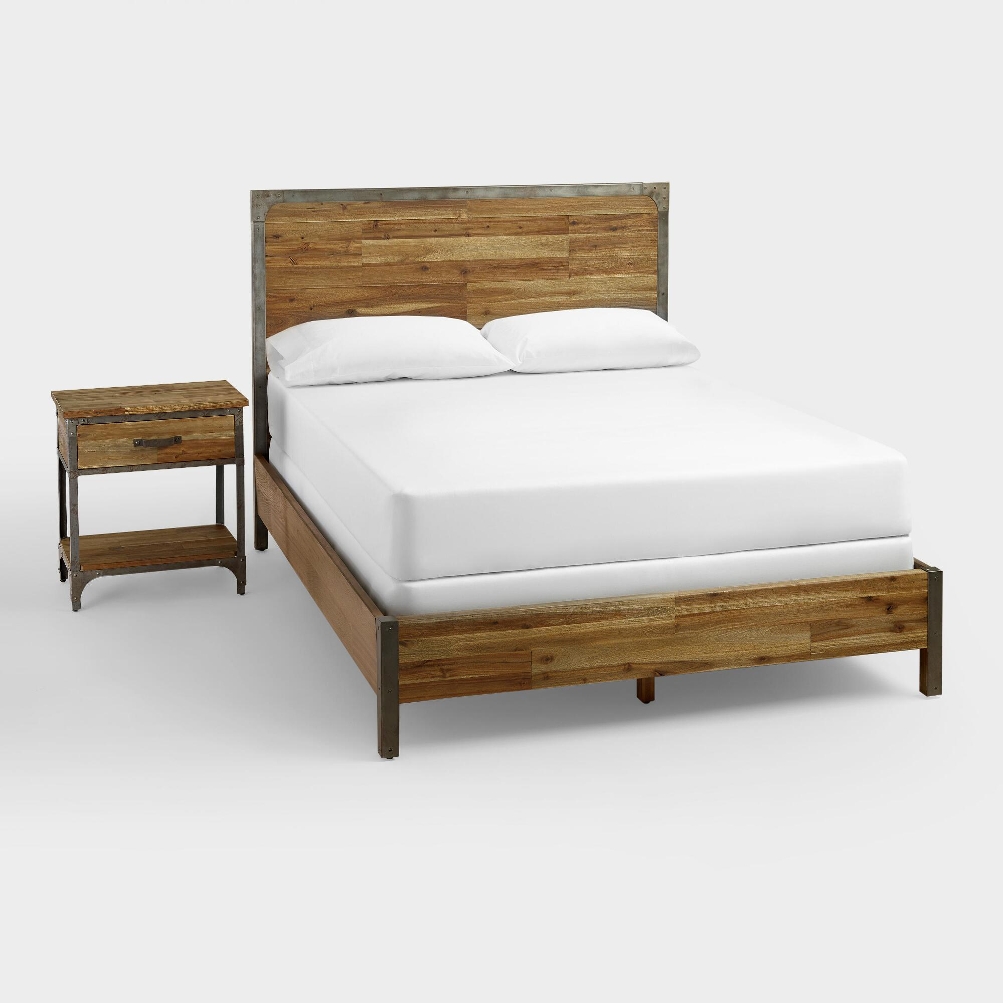 Wood and Metal Aiden Bed | World Market
