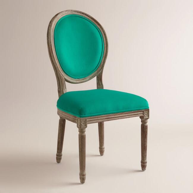 Emerald Paige Round Back Dining Chairs, Set of 2
