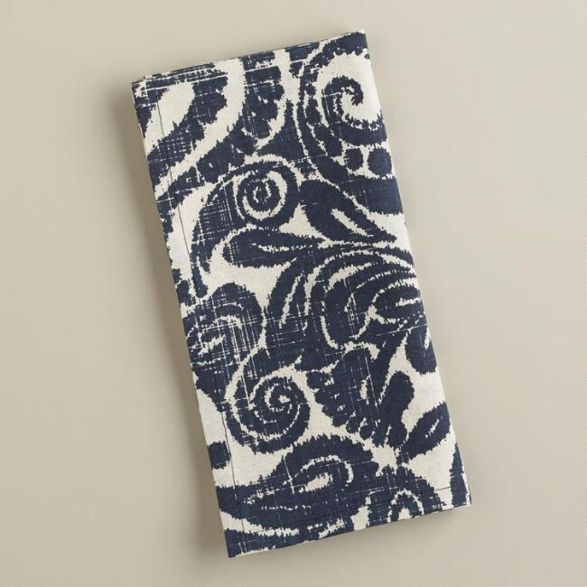 Indigo Ikat Amsala Napkins, Set of 4