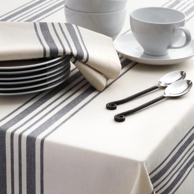 Black Villa Stripe Napkins Set of 4