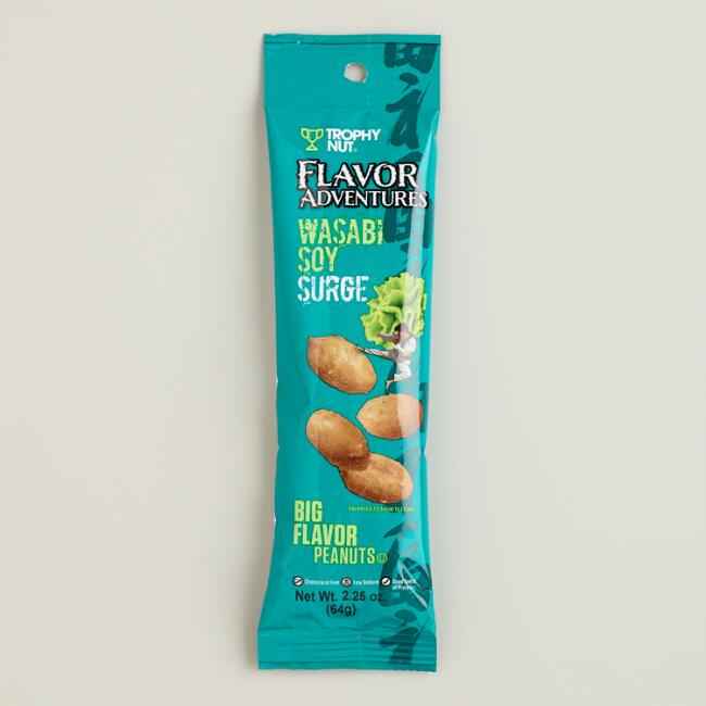 Flavor Adventures Wasabi Soy Peanuts, Set of 6