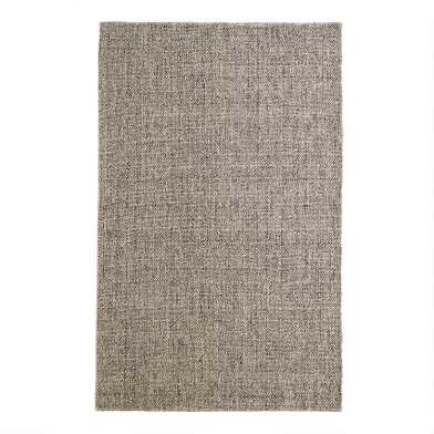 Light Gray Emilie Flatweave Sweater Wool Area Rug