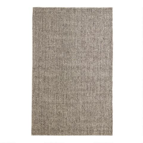 2fe2b692204 Light Gray Emilie Flatweave Sweater Wool Area Rug