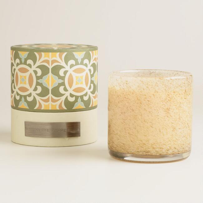 White Pepper Filled Jar Boxed Candle