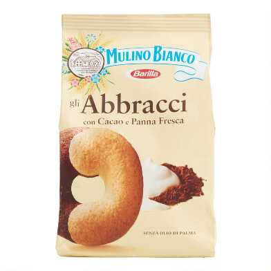Mulino Bianco Abbracci Cream and Cocoa Cookies