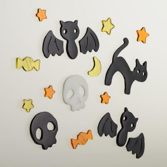 Halloween Cats and Bats Gel Clings, 16-Count