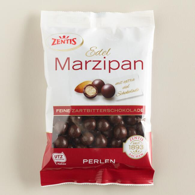 Dark Chocolate Marzipan Pearls
