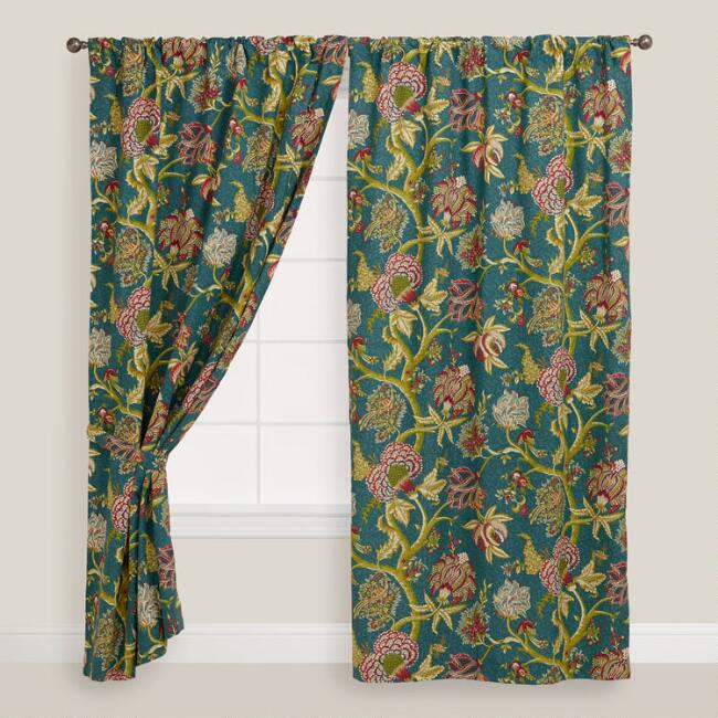 Floral Darby Tab Top Curtain