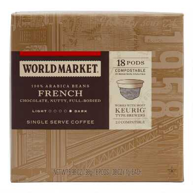 World Market® French Roast Coffee Pods 18 Count