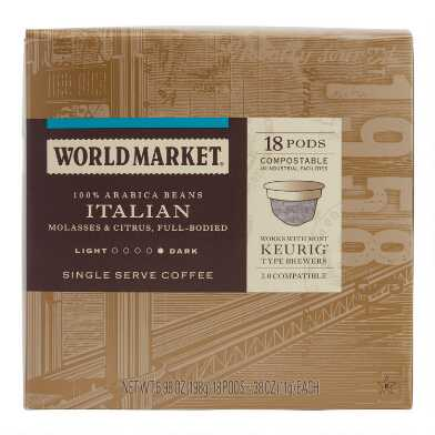 World Market® Italian Roast Coffee Pods 18 Count