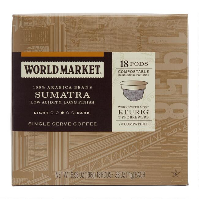 World Market® Sumatra Coffee Pods 18 Count