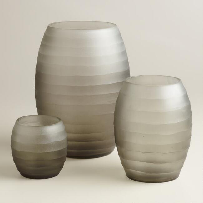 Gray Ombre Hurricane Candleholders