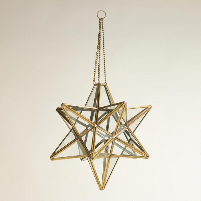 Clear Abhati Star Hanging Lantern