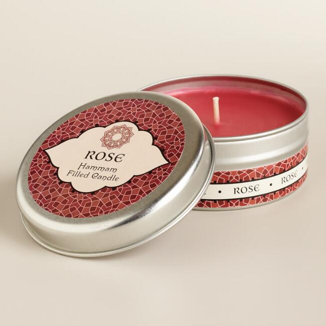 Rose Hammam Candle Tin
