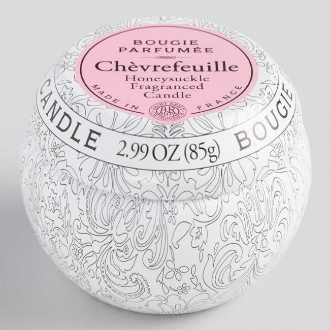 Honeysuckle Travel Candle Tin