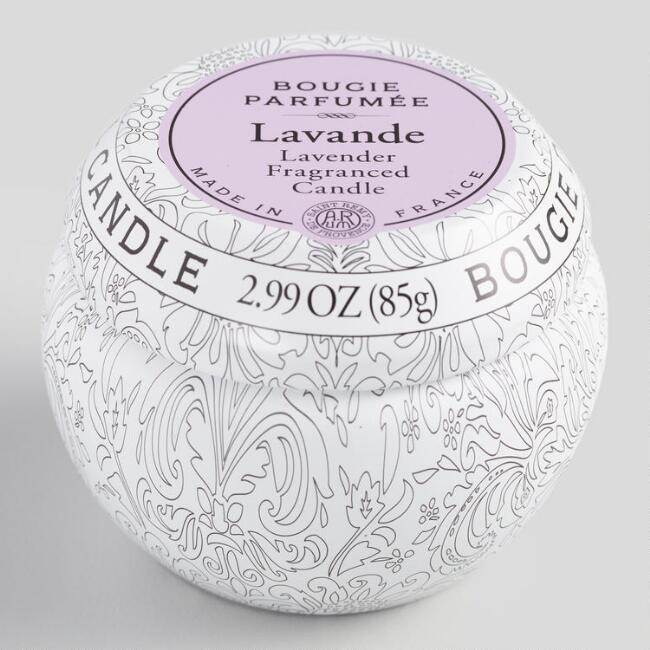 Lavender Bougie Parfumee Travel Candle Tin