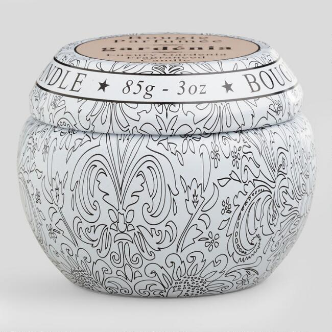 Gardenia Bougie Parfumee Travel Candle Tin