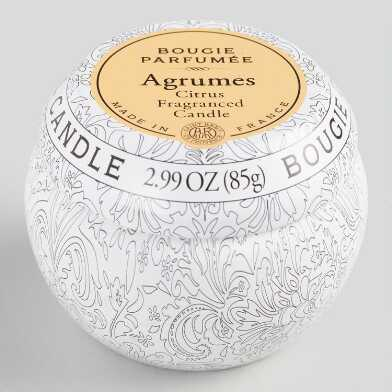 Citrus Bougie Parfumee Scented Candle Travel Tin